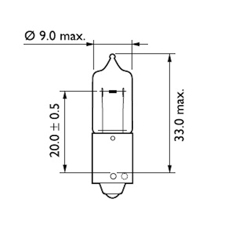 Halogenglödlampa 12V 21W BAY9s