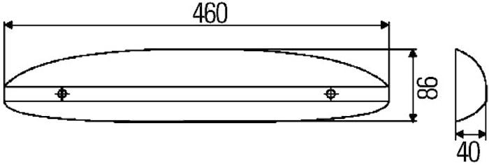 Instegsbelysning LED 460x86mm