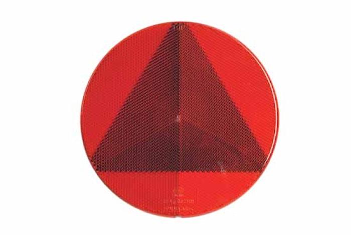 Triangelreflex röd 156mm Ø lim