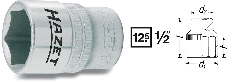 "Hylsa 1/2"" 21 mm"