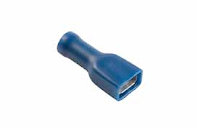 Flatstifth. FLF 6,3x0,8mm blå