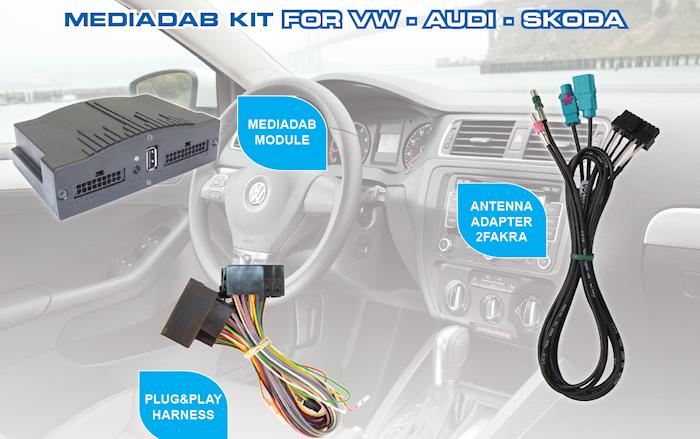 MediaDAB VW GolfVII/Polo 14-