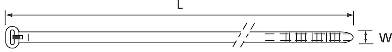 Buntband 186x4,8mm (1=100st)