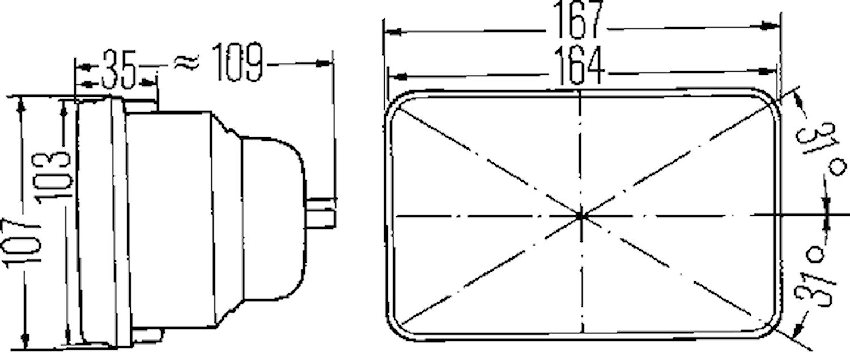 Helljusstrålk H1 167x107 mm