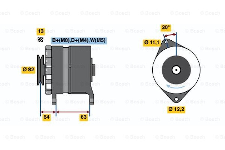 Generator utbytes 24V/55A