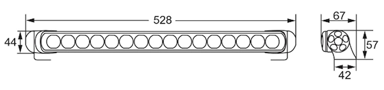 Extraljusramp LED 470