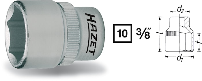 "Hylsa 3/8"" 13 mm"