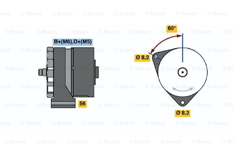 Generator utbytes 14V/33A