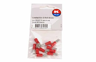 Flatstifthylsa 2,8x0,8mm röd