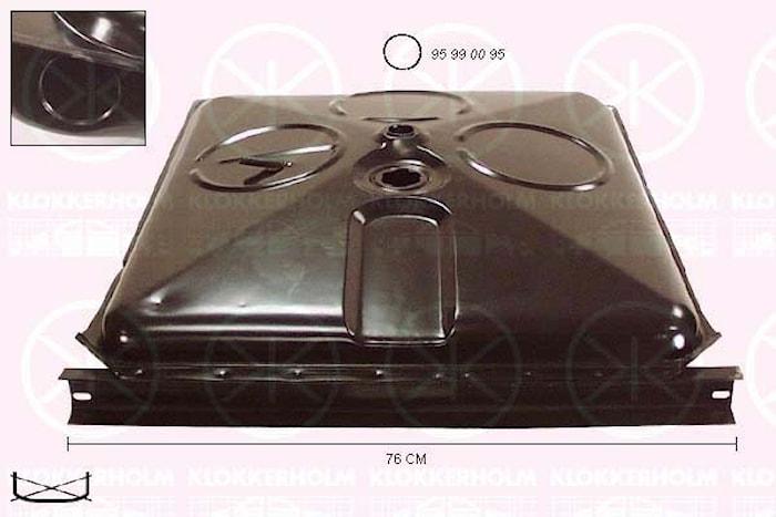 Tank bensin/dsl 70lit. 78-