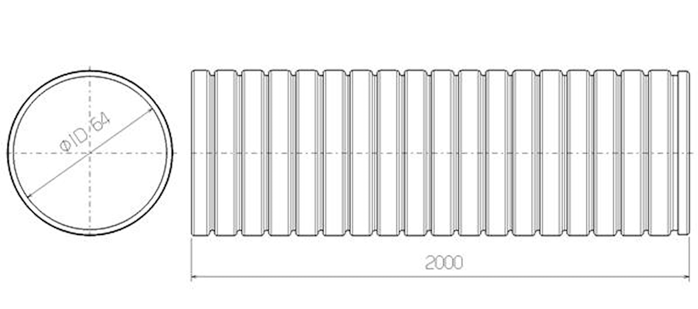 Flexrör 64x2000