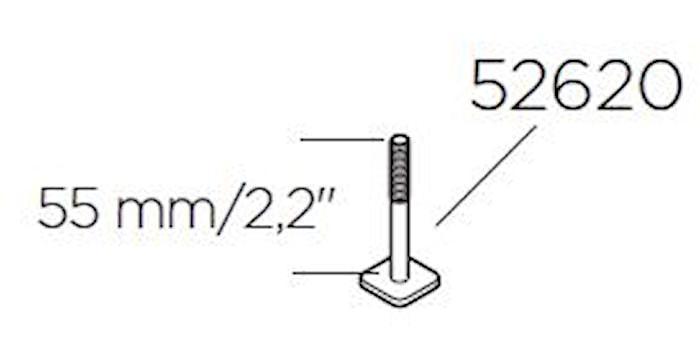 T-spårsskruv M6x55
