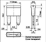 Smallsize säkr. 5A, 2st/förp