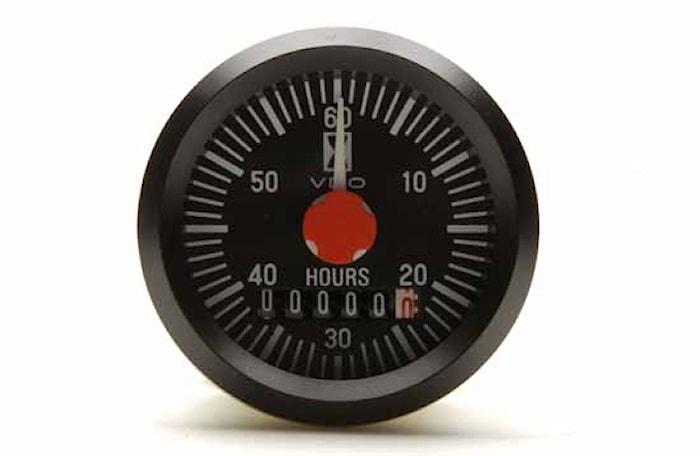 Timräknare int 52mm endast12V