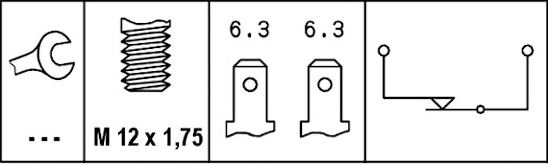 Bromsljuskontakt mek M12x1,75