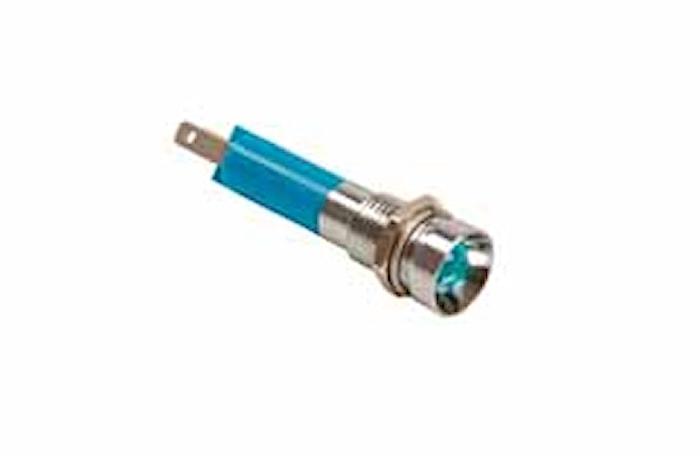 Kontrollampa 12/24V blå LED