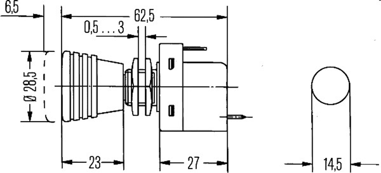 Dragströmbr 12V slutande 0-1