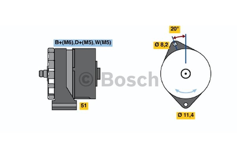 Generator utbytes 28V/45A