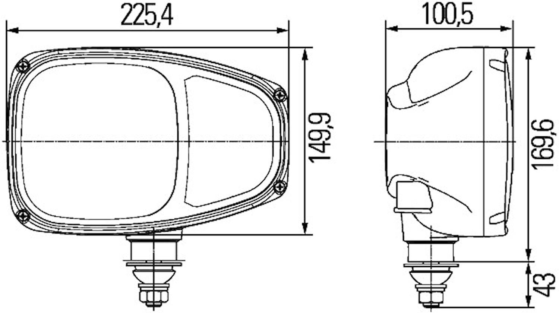 Strålk vä 24V för påbyggnad