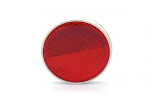 Reflex röd 84mm Ø plastbaksida