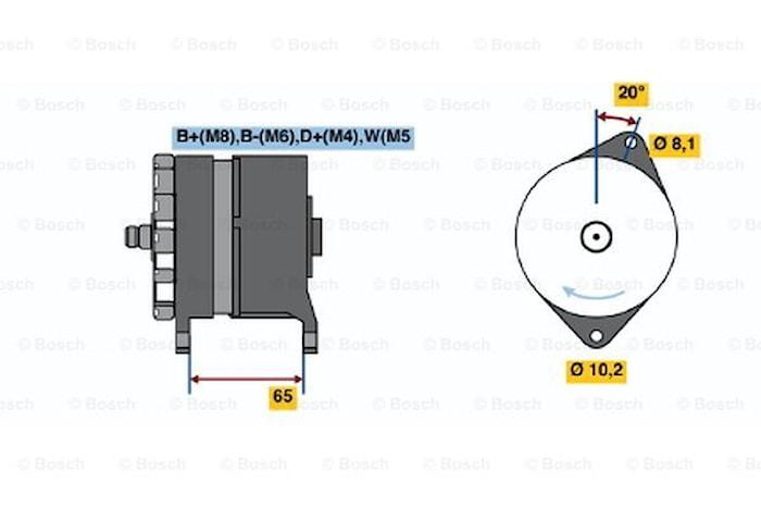 Generator utbytes 24V/80A
