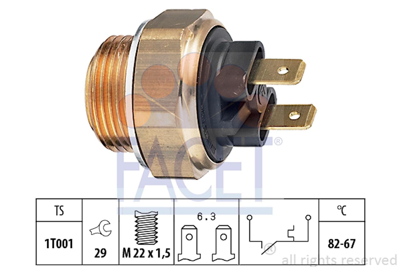 Termokontakt M22x1,5 82g 2 fla