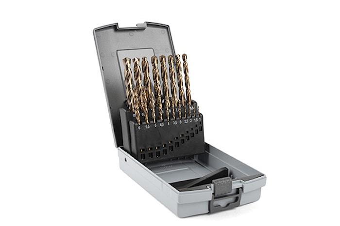 Borrkassett kobolt 1-10mm, pla