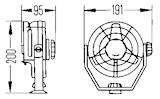 Propellerfläkt 12V vit
