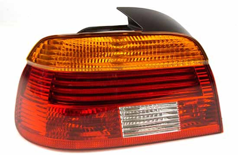 Baklykta vä gul/röd BMW 5-ser