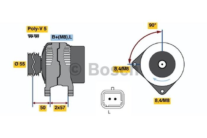 Generator utbytes 14V/110A