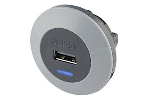 USB laddare singel 12/24V 2,1A