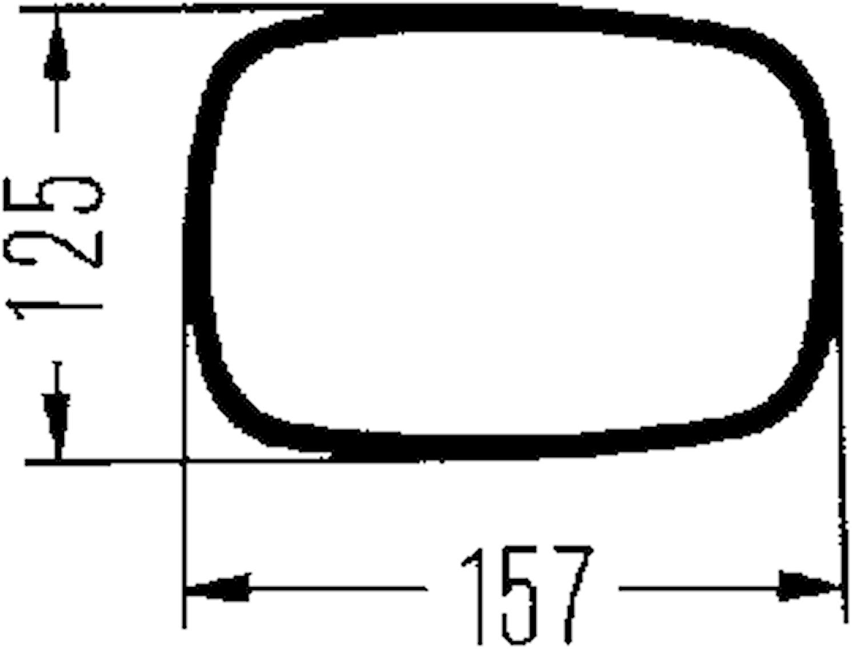 Husvagnsbackspegel universal