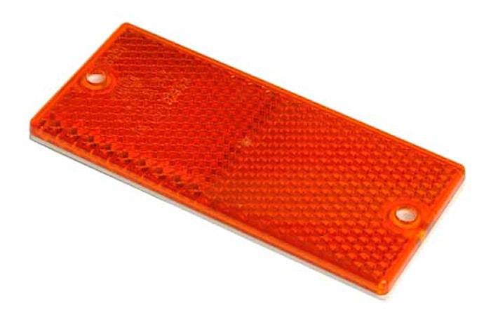 Reflex röd 90x40mm självhäft
