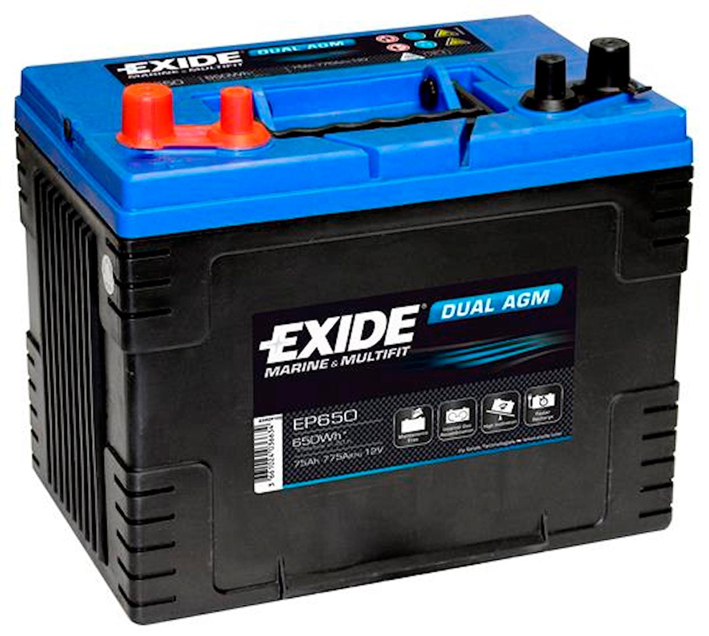 Batteri Dual AGM 75Ah