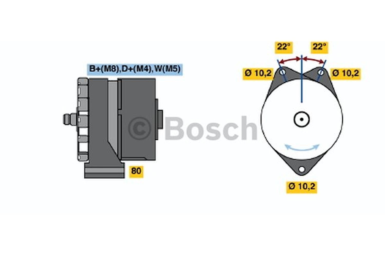 Generator utbytes 28V/55A