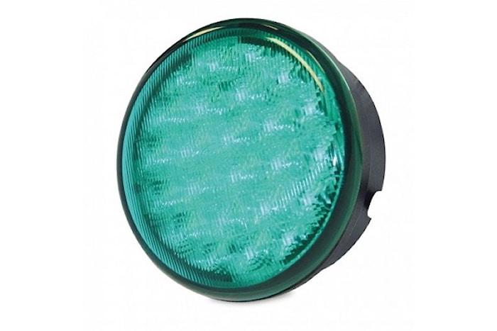 Blixtlykta LED grön 83 mm Ø