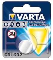 Batteri CR1632 3V litium