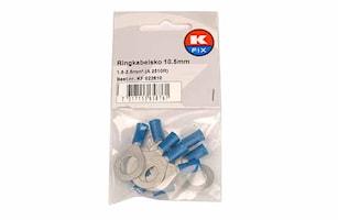Ringkabelsko 10,5mm blå