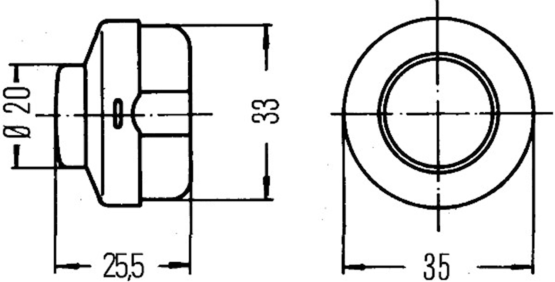 Tryckknappomkopplare krom/svar