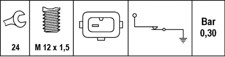 Oljetryckskontakt M12x1,5