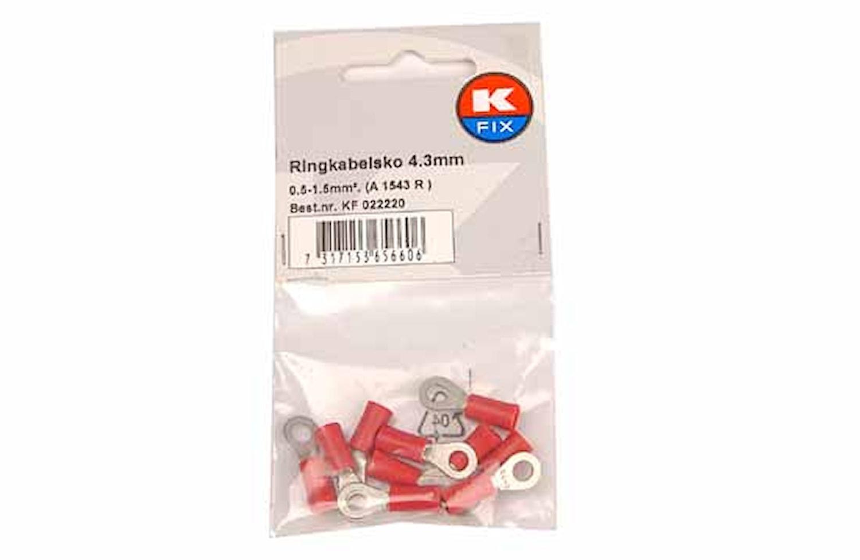 Ringkabelsko 4,3mm röd