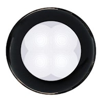 Flushbelysn 12V LED vit 75mm Ø