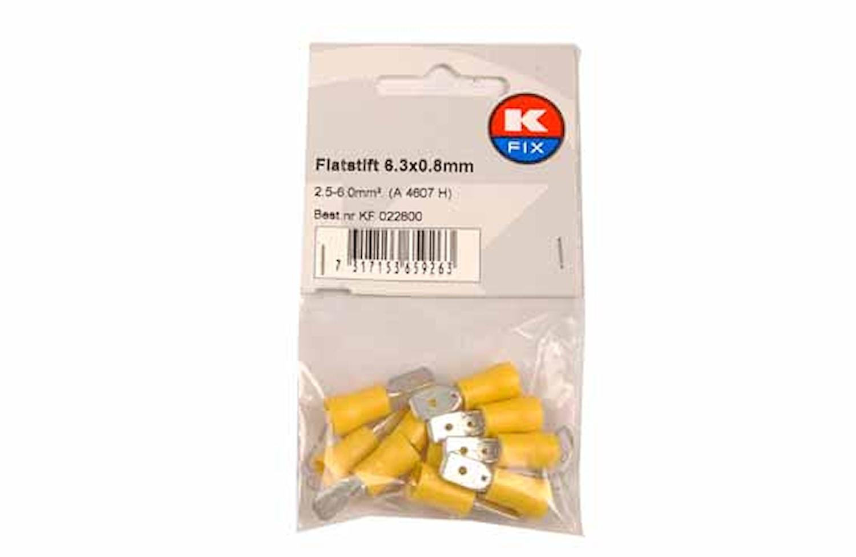 Flatstift 6,3x0,8mm gul