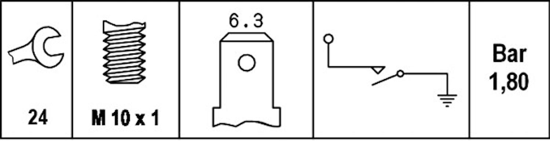 Oljetryckskontakt M10x1