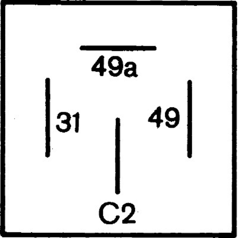 Blinkrelä 12V 4-ansl(C2) 2+1x2