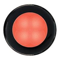 Flushbelysn 12V LED röd 75mm Ø