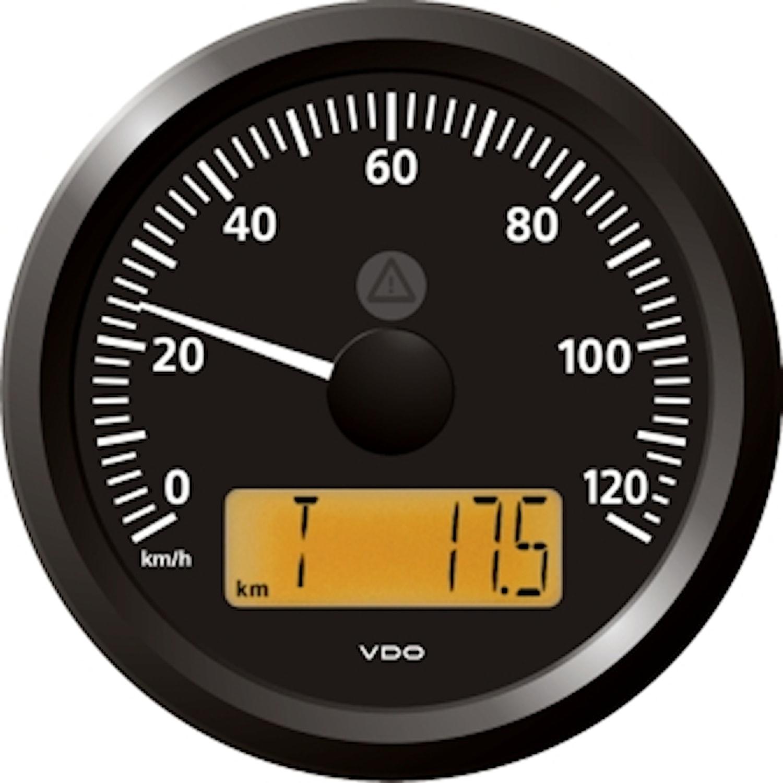 Hastighetsmätare 120 Km 12/24