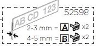 Skylthållarclips (2A+2B)