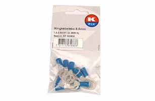 Ringkabelsko 8,5mm blå