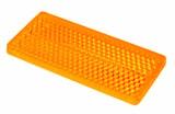 Reflex gul 69x31,5mm självhäft